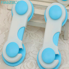 4pc Baby Safety Cabinet Lock Gates Doorways Door Drawers Wardrobe Todder Kids Baby Safety Plastic Straps Lock Child Care(China)