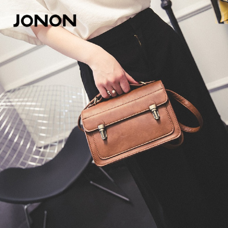 JONON Real Soft PU Leather Bag Women Messager Bags Ladies Crossbody Bags Black Shoulder Bags Femininas Dollar Price XZZ0411<br><br>Aliexpress
