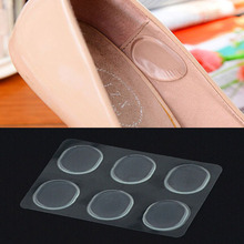 6 PCs/Sheet Women Ladies Girls Silicone Gel Shoe Insole Inserts Pad Cushion Foot Care Heel Grips Liner Foot Patch