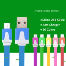 BrankBass High quality 10 Colors Flat Micro Usb Cable Charge Cable & Sync Data For Samsung For HTC for Nokia Android Phones