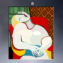 THE DREAM Art Print By Pablo Picasso the world famous oil painting on canvas free shipment for decorative