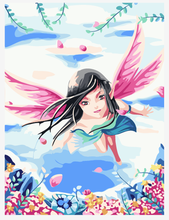 DIY oil painting butterfly fairy painter art hand-painted picture sitting room unique gift(China)