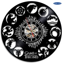 wall clock Game of Thrones Theme Vinyl Unique wall clock by Gullei.com,  saat alarm clock reloj