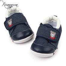 Hot Kids Baby Shoes Embroidered Bear Rubber Sole Baby Boy Walking Sports Shoes 1-3 Years Old