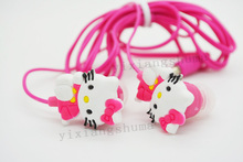 50 pcs/lot New Cartoon Hello Kitty Earphone For MP3 Player High Quality Stereo Headphone For Mobile Phone