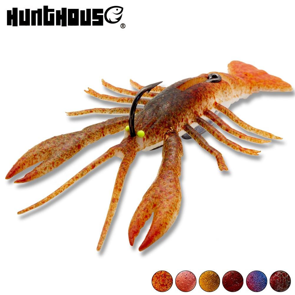 Fishing Bait Soft Artificial Lobster Lure Hook Crawfish Shrimp Crabs Swimbait