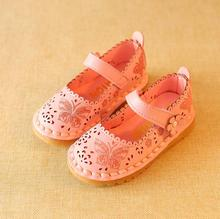 Promotion Child Baby Girls Sandals Fashion Shoes Summer Kids Sandal Flat printing Cut-Out Princess Cute Hollow Shoes