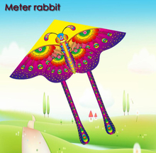 90*90cm Color Butterfly Kite Hot Medium Traditional bright cloth Butterfly Foldable Kite Outdoor fun&sports Recreation Products(China)
