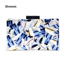 2018 Women messenger bags brand fashion new Clutch Contrast print wallet woman evening bag bolsa feminina lady casual hand bag(China)