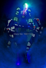 robot led lights costumes/LED robot Costume / LED Clothing / Light suits / LED Robot suits(China)