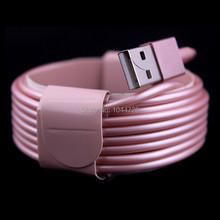 Wholesale price 1000pcs/lot 3m 10ft 8pin rose gold usb data cable for iphone 5 5s 6 6s for ipad air for ipad mini ios 9