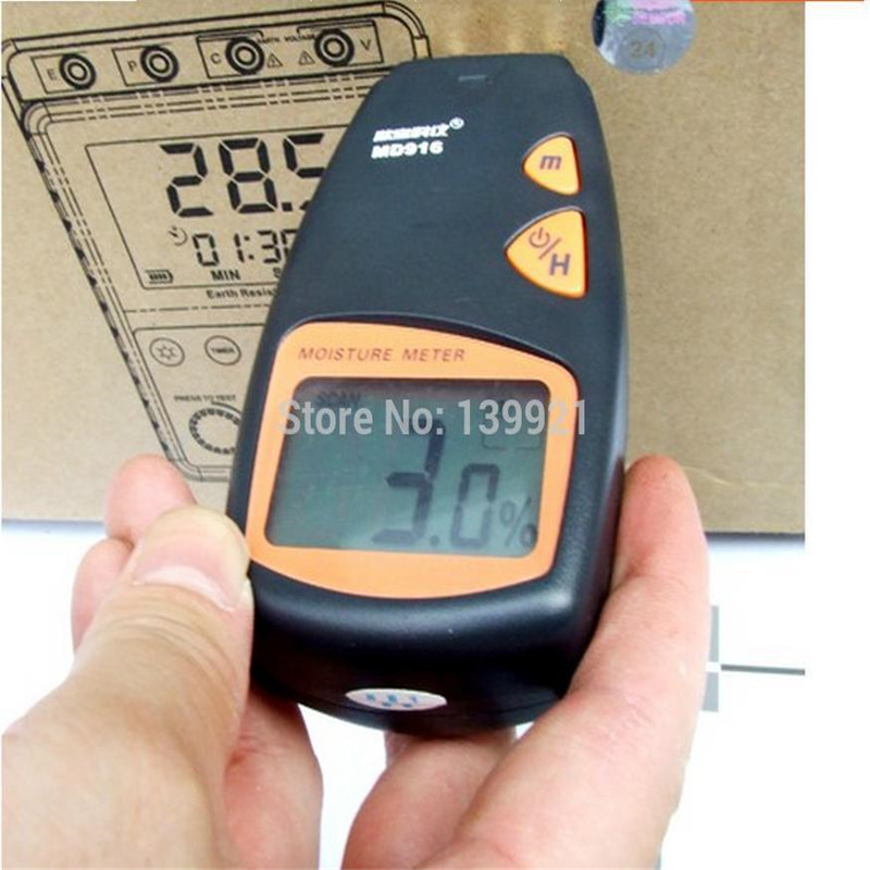 Free Shipping MD916 Portable Digital 4 Pins Paper Moisture Meter Tester 2%~40% wholesale + free shipping<br>