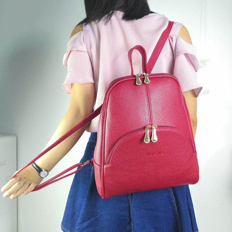 Nevenka Women Backpack Leather Backpacks Softback Bags Brand Name Bag Preppy Style Bag Casual Backpacks Teenagers Backpack Sac21