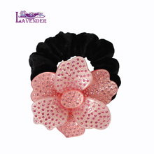 Luxury Hair Rope Flower rhinestone Party Cellulose Acetate Hair Accessories Buyer for Ladies Jewelry Pin Free Shipping Gifts