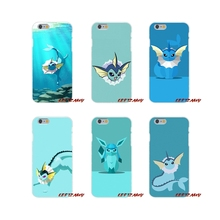 cute kawaii anime pokemon vaporeon Slim Silicone phone Case iPhone X 4 4S 5 5S 5C SE 6 6S 7 8 Plus