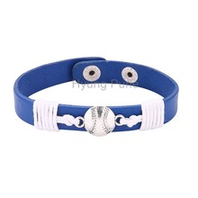 6pcs/lot! Wholesale Jewelry Adjustable Sport Team Los Angeles Baseball Bracelet Fahion Custom Wristband Cuff For Women Men