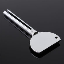 1pc Tube Toothpaste Squeezer Extruder Silver Metal Tube Wringer Salons Dye Paint Squeezer Hair Cream Dispenser Promotion