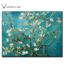 1 PCS/SET The Almond Blossom Huge Picture Abstract Flower Oil Painting On Canvas Van Gogh canvas print Living Room Wall Art