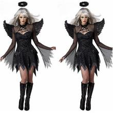 Adult Costume Sexy Black Angel Wings Deguisement Sexy Movie Cosplay Costumes Halloween Costumes Women Cosplay Devil DisfrazCE374