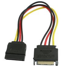 PROMOTION!PC SATA 15 Pin Male to Female HDD Power Cable Converter Adapter