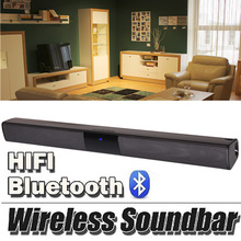 20 w Barra de Som Bluetooth Speaker Subwoofer Casa TV Soundbar Estéreo Audio Speaker Sem Fio Super Bass Altifalante Mãos Livres(China)