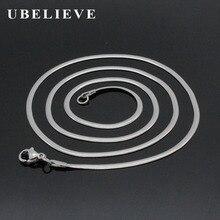 2017 новейшая мода 2.0 мм Ширина Серебро 316 Нержавеющаясталь змея цепи Модные украшения Интимные аксессуары(China)