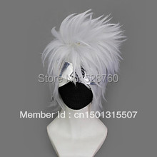 Cosplay Wig Inspired by Naruto Hatake Kakashi Free shipping