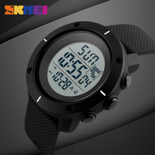 Luxury Brand Sports Military Watch Big Dial 2 Time Zone Mens Watches Digital LED Watch Fashion Casual Electronics Wrist Watches