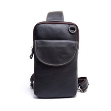 ALAVCHNV retro leisure chest Messenger bag head layer of leather chest bag leather shoulder bag large capacity g1(China)
