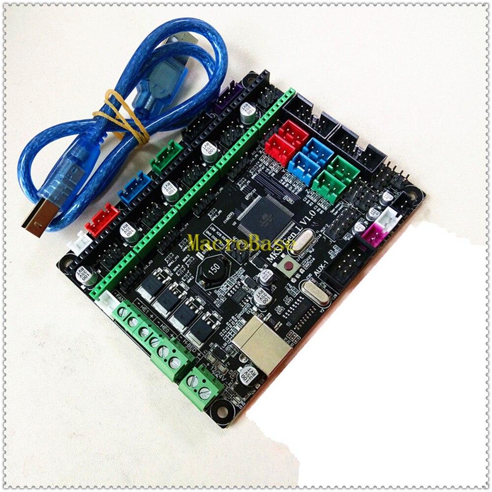 MKS GEN L V1.0 3D printer board control panel mainboard diy starter kit support a4988 8825 tmc2100 lv8729 tb6600 dual extruder<br><br>Aliexpress