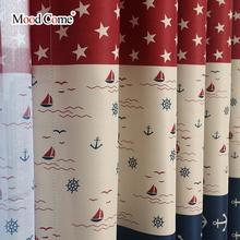 Mediterranean stripes Design Curtains for Boy's Bedroom Living Room Kids Baby Room Window Curtains Door Curtain Panel Blinds Sha