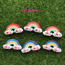 10pcs/lot flat back resin crafts resin cabochons accessories kawaii resin rainbow mix colors