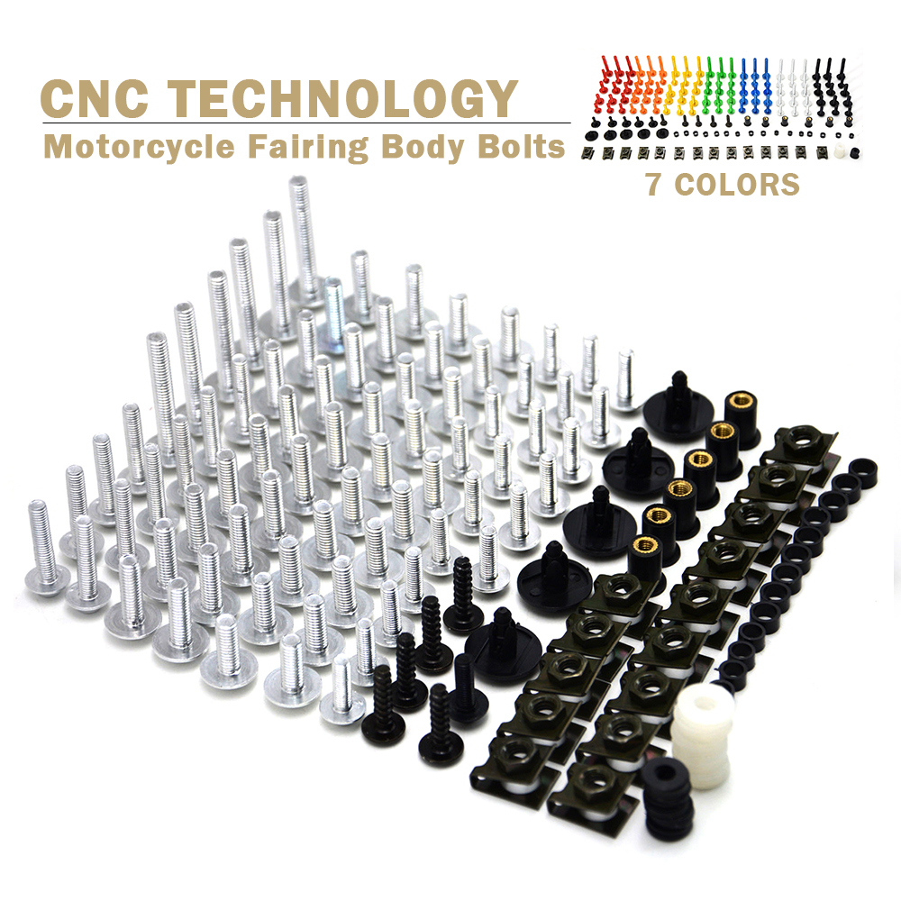 Hot Universal Motorcycle Fairing Body Bolts Spire Screw Spring Nuts FOR BMW R1200S R1200ST R1150RT F650CS R1100S R1150R S1000RR<br>