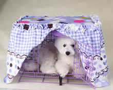 Handmade Floral Cotton Pet Dog Cage Cover Anti-dust Pet Supplies XS-XXL(China)
