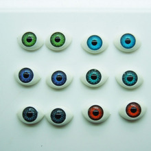 New Arrival 60Pcs(30pair) Half Oval Plastic Doll Eyes Mix color BJD EYES 10*14.5mm Wholesale