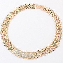 Match-Right Metal Rhinestone Chunky Choker Necklace Women Necklaces & Pendants Jewelry Collar For Gift Party