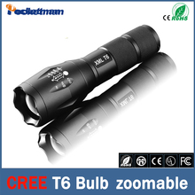 E17 Cree LED Flashlight 3800 Lumen Tactical Waterproof Zoomable Powerful XML T6 Lamp Camping Torch LED linternas(China)