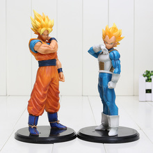 20cm Dragon Ball Z Resolution Of Soldiers Super SaiYan Vegeta Goku action figure toys Christmas gift doll Collectible Model Toy