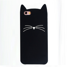 2106 Fashion cartoon animals cute jelly candy color beard cat soft silicone cell phone case cover skin For Iphone