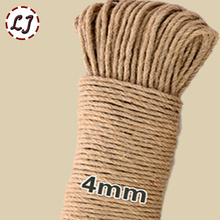Wholesale 16meter/lot width 4mm Shabby Chic Natural Jute Twine Rustic String Cords Hemp rope Wrap Craft Making Decor Rope