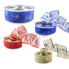 Ourwarm 2 Yards Organza Ribbon for Christmas Bows Bling DIY Ribbons Christmas Decorations for Home Event Party Supplies