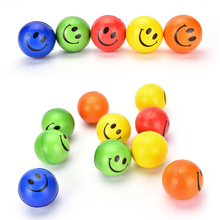 1 Pc Smile Face Print Sponge Foam Ball Squeeze Stress Ball Relief Yoga Gym Fitness Toy Hand Wrist Exercise PU Rubber Toy Balls