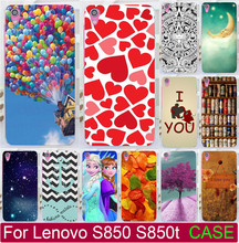 Best Selling Hard PC Paiting Cases For Lenovo S850 S850t Cell Print Love You Moon Ballon Beer  Phone Case Cover Shell Capa