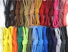 Buy 2 get 1 free,Colorful Round Strong Hiking Walking Skate Sneaker Shoelace lace for boot shoe 140cm(China)