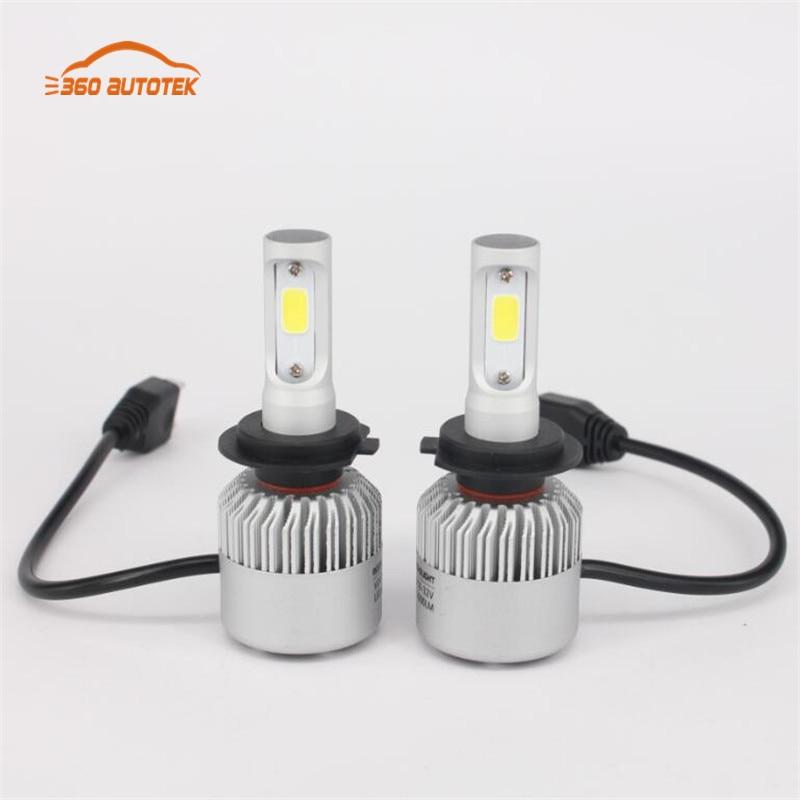 hlxg H4/H7/H11/H13/9005/HB3/9006/HB4 LED Car Headlight Bulb Hi-Lo Beam COB 72W 8000LM 6500K Auto Led Headlamp 12v 24v<br><br>Aliexpress