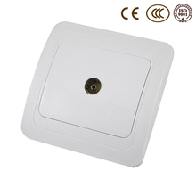 Wall TV Socket, EU / Russia Standard High Quality Outlet, Ivory White, AC 110~250V