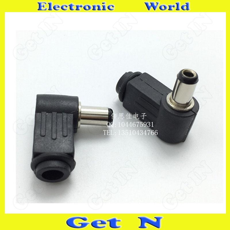 20pcs-250pcs   9MM 5.5-2.5mm DC Power Cable Connectors 90Degree Bend Heah DC Male Plug<br><br>Aliexpress