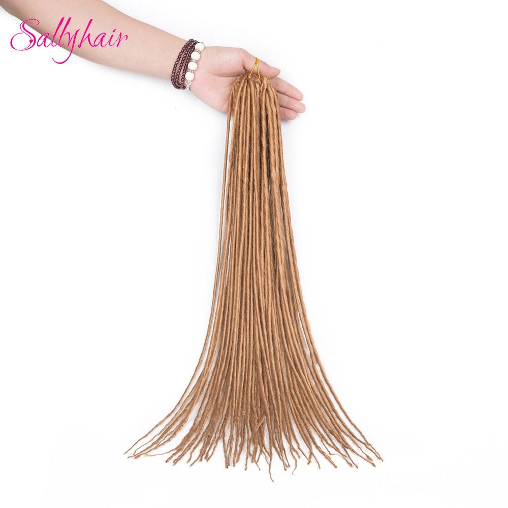 1 pack 24strands dreadlocks Crochet Braids Synthetic Hair Extensions Braiding Hair (2)