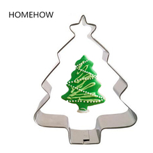 1PC/Lot Christmas Party Tree Biscuit Cutter 7.5*6cm Party Gift Biscuit Cookie Cutting Mold DIY Baking Pastry Fondant Cutters(China)