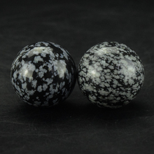 2 Pcs Natural Snowflake Jasper Sphere Crystal Balls Feng Shui Home Decor Natural Stones Hand Massage & Relaxation (25MM)(China)